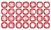 The Communication Icon on A Red Background — Stock Vector