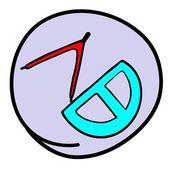 Transferidor e compasso de desenho sobre fundo roxo redondo — Vetorial Stock