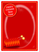 Voctor of Two Firecrackers on Chinese New Year Background — Stock Photo