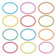 Colorful Illustration Set of Oval Frames On White Background — Stock Vector