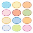 colorful illustration set of oval frames for design — Stock Vector