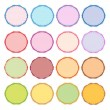 Colorful Illustration Set of Circle Vintage Label — Stock Vector
