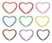 Multi Colors Noose in The Shape of Heart — Stock Vector