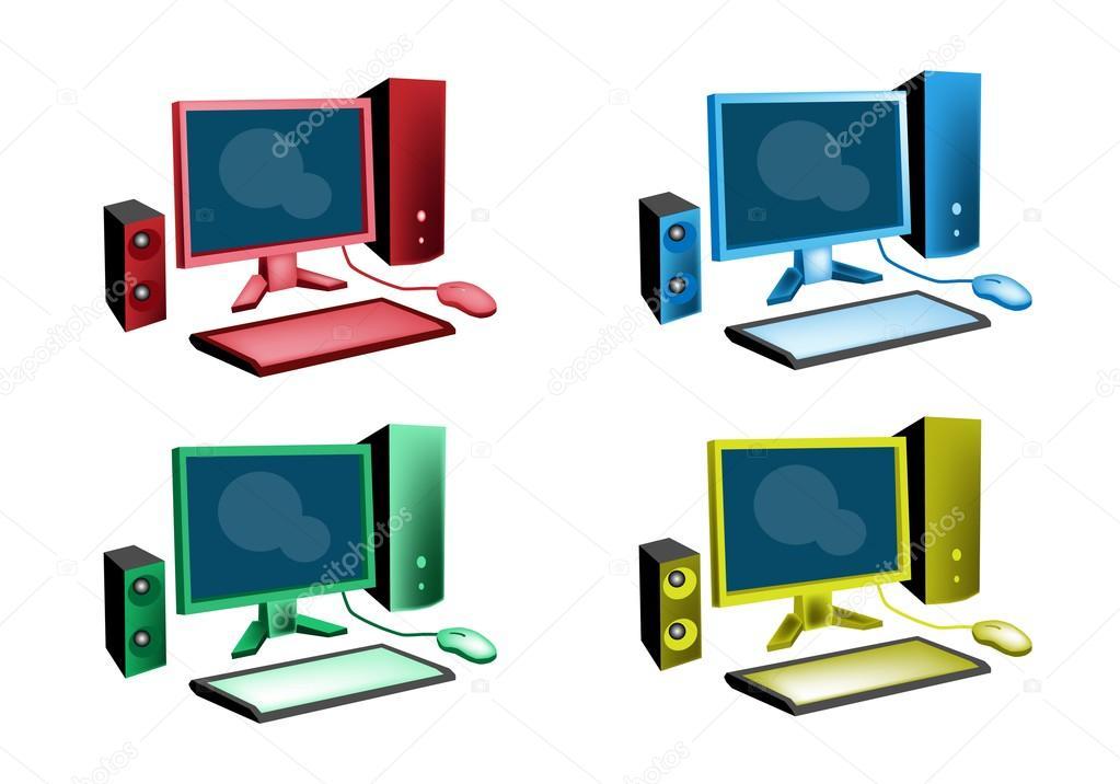 Desktop Icon Set Desktop Computer Icon or