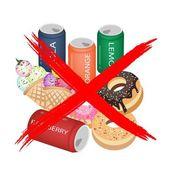 Na jíst sladké nápoje a sladké jídlo — Stock vektor