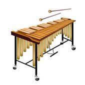 Eine musikalische vibraphon isoliert auf weißem hintergrund — Stockvektor