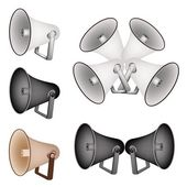 A Set of Megaphone on White Background — Stock Vector