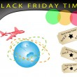 ストックベクタ: Time to Black Friday Shopping Promotion