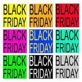Black Friday on Colorful Banner for Special Price Products — Stock Vector