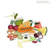Health and Nutrition Benefits of Mineral Foods — Stock Vector
