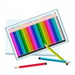 Set of Colored Pencils in A Box — Stock Vector