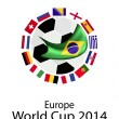 Stock Vector: EuropeZone qualification in 2014 World Cup
