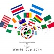 Vector de stock : 32 Nations in 2014 World Cup