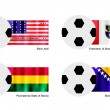 Football with Bikini Atoll, Bolivia, Bosniand HerzegovinFlag — Stockvector #40431257