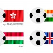 ストックベクタ: Soccer Ball with Hong Kong, India, Hungary and Icelan