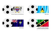 Saint Barthelemy, Saint Lucia, Saint Helena and Saint Kitts Flag — Stock Vector