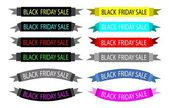 A Set of Colorful Black Friday Banners — Stock Vector