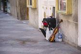 通りのバイオリン — ストック写真
