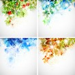 Stock Vector: Set of four seasons background
