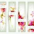 Set of four headers. Abstract artistic Backgrounds — Imagen vectorial