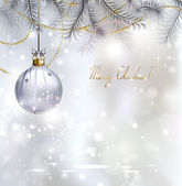 Shiny Christmas background with evening ball — Vecteur