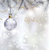Shiny Christmas background with evening ball — Stockvektor