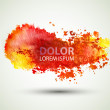 Stock Vector: Red watercolor blot