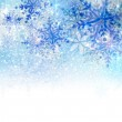 Christmas background with abstract blue snowflakes — Stock Vector #33361727