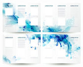 Brochure backgrounds with Abstract blue elements — Stock Vector