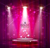 Spotlight effect scene background — Stock Vector