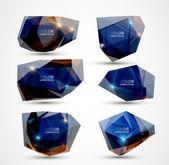Six labels. Modern design. — Stock Vector