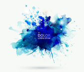Abstract artistic element forming by blots — Stock Vector