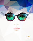 Fashion woman with glasses — Stock Vector