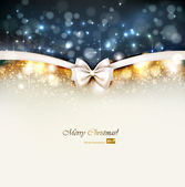 Christmas background with bow. — Stock Vector