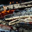 Firewood fading in the fire — Stock Photo