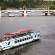 River tram on tours of Prague — Stock Photo #36125561