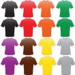 Male shirts template in many colors — Image vectorielle