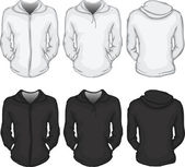 Women's hoodie shirt template — Stock Vector