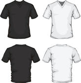 V-neck shirt template — Stock Vector