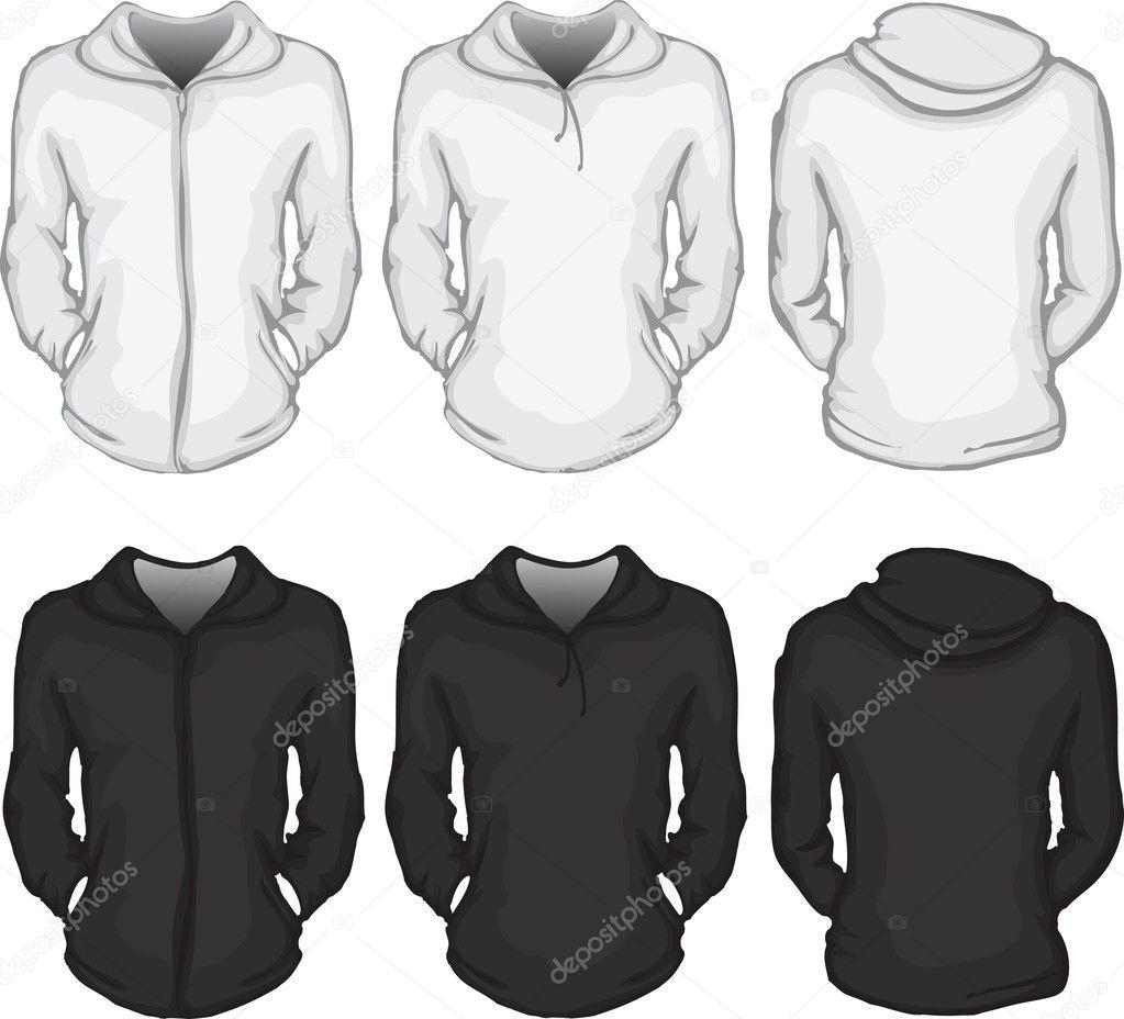Women's hoodie shirt template — Stock Vector © airdone
