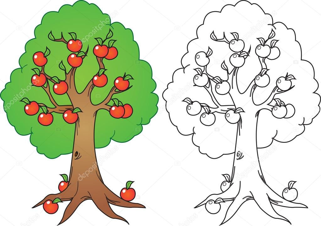 Orange tree — Stock Vector © airdone #34970363