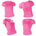 Women's blank pink t-shirt template — Stock Photo #37668993