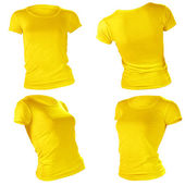 Women's blank yellow t-shirt template — Stock Photo