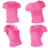 Women's blank pink t-shirt template — Stock Photo