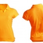 Women's Blank Orange Polo Shirt Template — Stock Photo #37684845