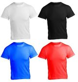 Men's Blank Shirt Template in Many Color — Stock Photo