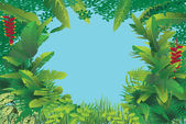 Exotic tropical forest — Stock Vector