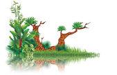 Exotic swamp — Stock Vector