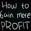 How to Gain More Profit — Stock Photo