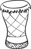 Congo Drum Doodle — Stock Vector